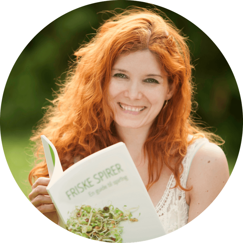 Miriam Sommer with sprout book FRESH SPROUTS