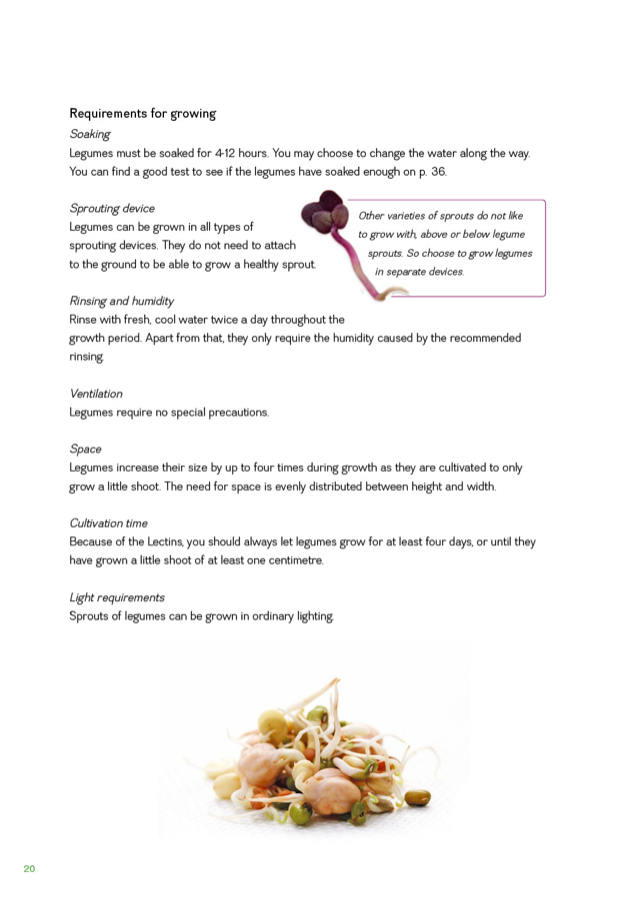 FRESH SPROUTS A Guide to Sprouting page 20