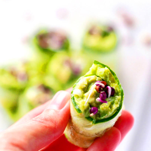 Cucumber rolls with sprouts FRESH SPROUTS
