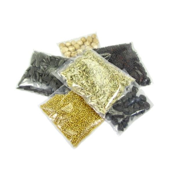 organic microgreen seeds in portion bags
