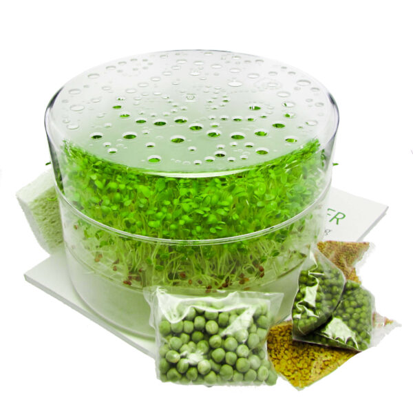 sproutpearl startkit with seeds and book