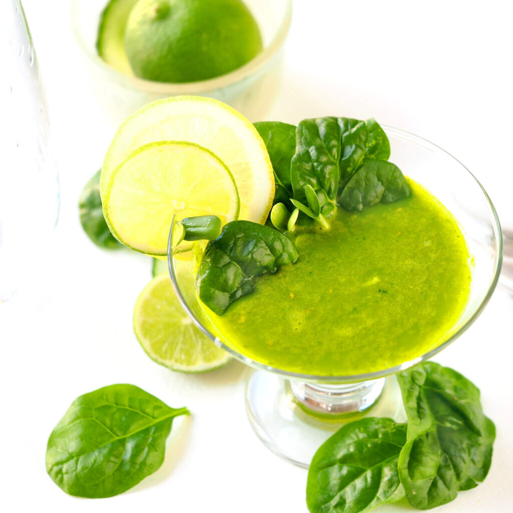 juice with sunflower sprouts