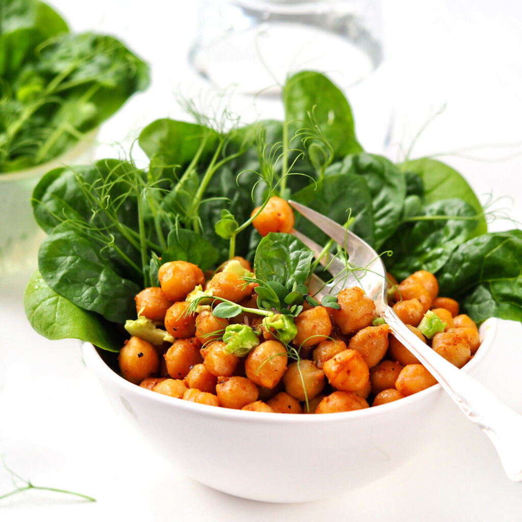 roasted chickpea sprouts snack