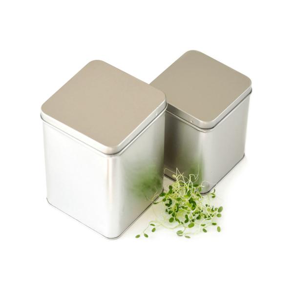 seed storage metal tin two sizes